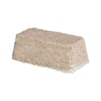 All Natural Pork Rillettes - a smooth, rectangular, gray brick of pureed meat